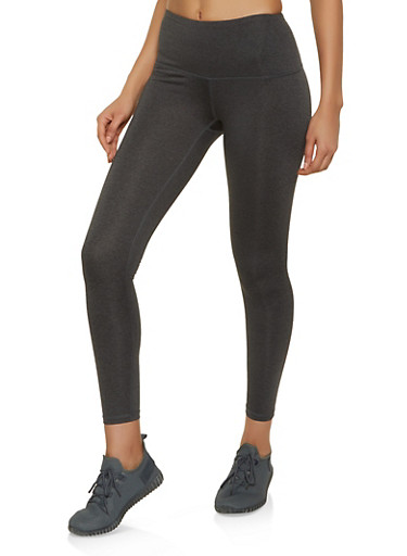 Reebok Colored Active Leggings,CHARCOAL,large