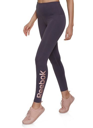 Reebok Leggings with Graphic,GRAY,large