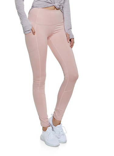 Reebok Active Leggings with Pockets,MAUVE,large