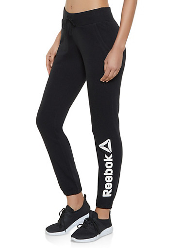 Reebok Joggers with Fleece Lining,BLACK,large