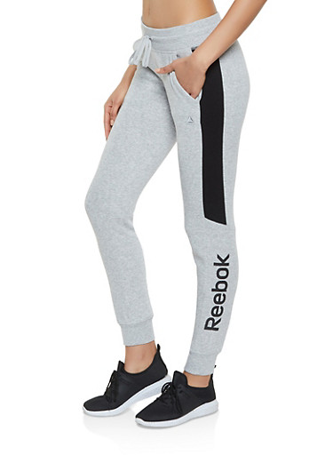 Reebok Joggers with Contrast Trim,GRAY,large