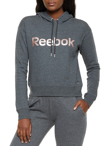Reebok Fleece Lined Sweatshirt,CHARCOAL,large