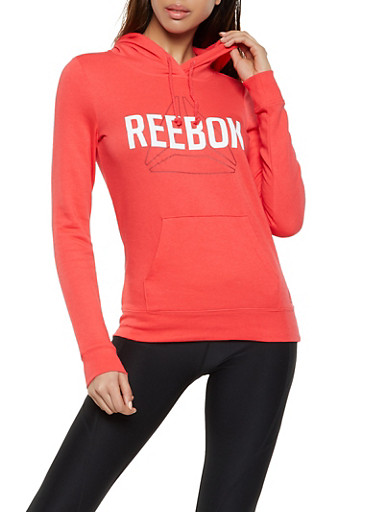 Reebok Hooded Sweatshirt,PEACH,large
