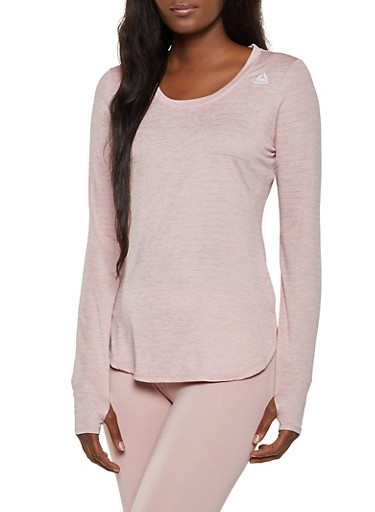 Reebok Long Sleeve Active Top,MAUVE,large