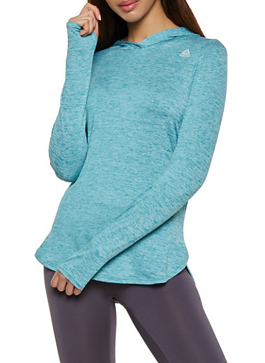 Reebok Hooded Active Top,BLUE,large