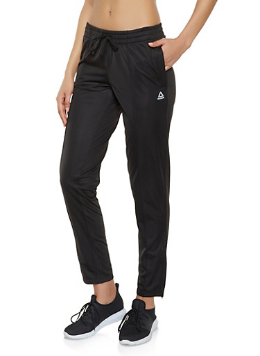 Reebok Fleece Lined Track Pants,BLACK,large