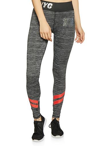 NYC Activewear Leggings,CHARCOAL,large