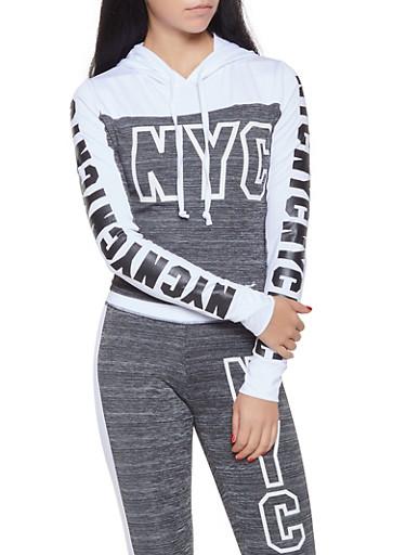 NYC Graphic Activewear Sweatshirt,CHARCOAL,large