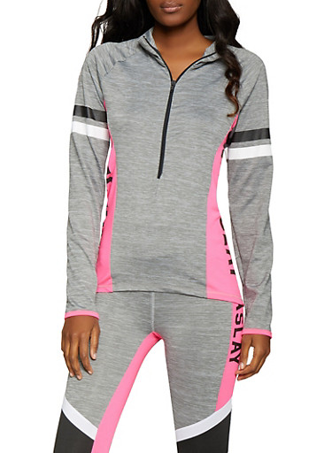 Namaslay Graphic Activewear Sweatshirt,PINK,large