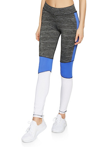 Love 95 Graphic Activewear Leggings,BLUE,large