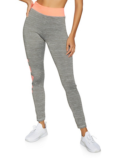 Love Graphic Activewear Leggings | 1058038346141,CORAL,large