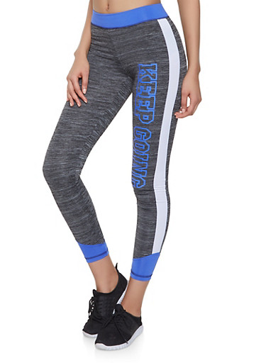 Keep Going Color Block Activewear Leggings,BLUE,large