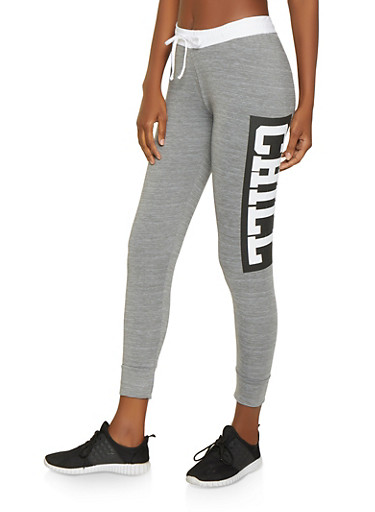 Chill Graphic Activewear Joggers,HEATHER,large