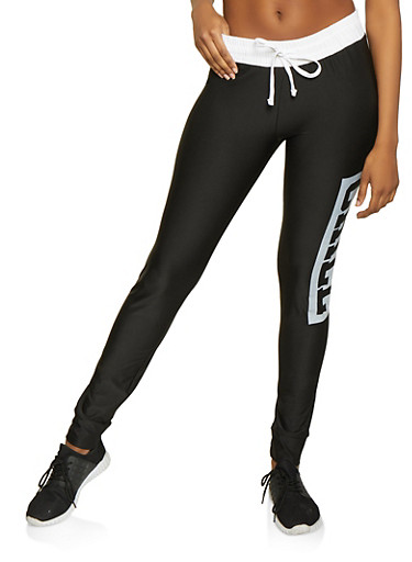 Chill Graphic Activewear Joggers,BLACK/WHITE,large