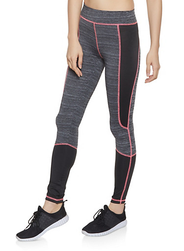 Color Block Activewear Leggings | 1058038347511,CHARCOAL,large
