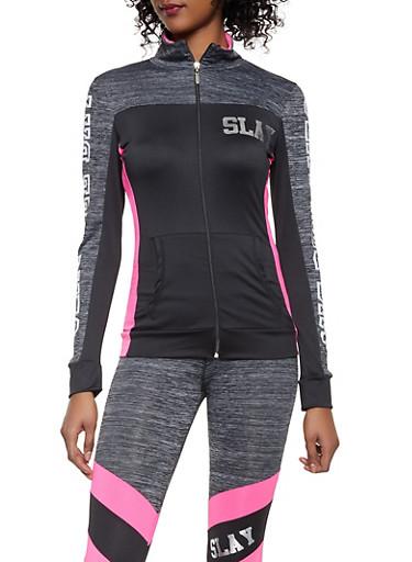 Slay All Day Activewear Sweatshirt,PINK,large