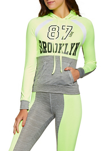 Brooklyn 87 Activewear Top,LIME,large