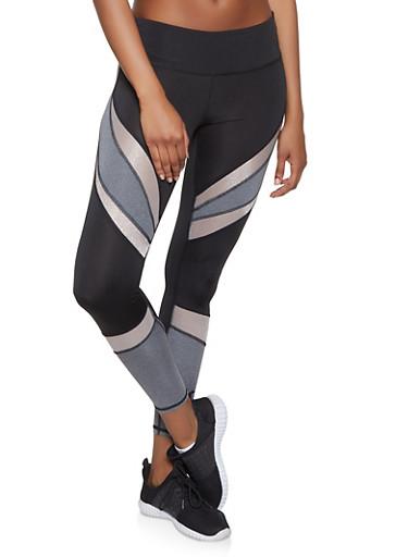 Color Block Activewear Leggings | 1059051064079,BLACK,large