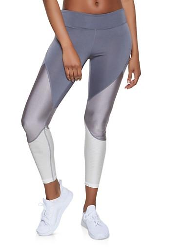 Color Block Activewear Leggings   1059051064081,CHARCOAL,large