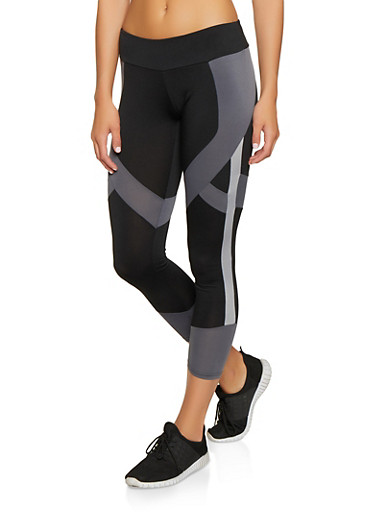 Color Block Active Leggings | 1059051064259,BLACK,large