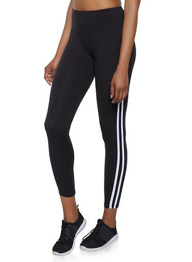 Varsity Stripe Leggings | 1059061633550,BLACK,large