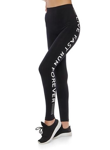 Graphic Activewear Leggings   Tuggl