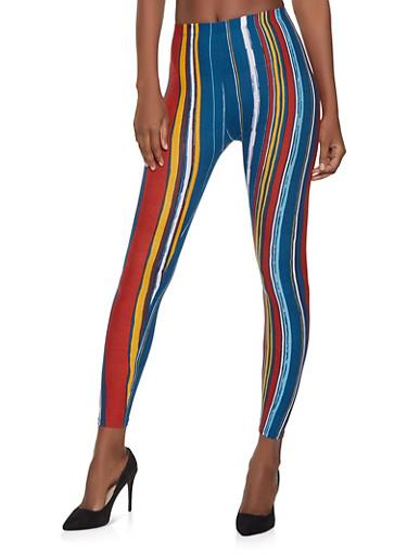 Striped Soft Knit Leggings | 1059062908197,WINE,large