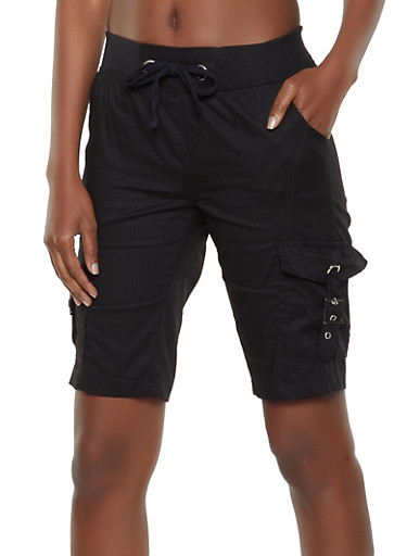 Cargo Bermuda Shorts | 1060038342250,BLACK,large