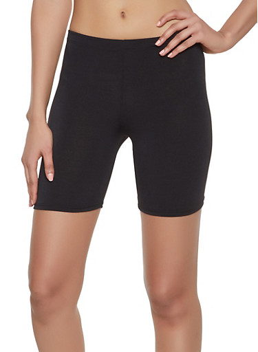 Solid Bike Shorts | 1060074015959,BLACK,large
