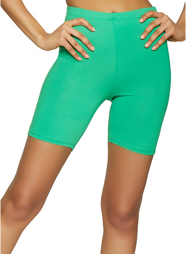 Neon Bike Shorts,NEON LIME,large