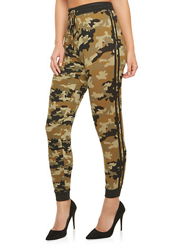 Camo Joggers,OLIVE,large