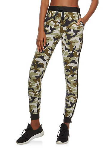 Soft Knit Camo Joggers,GRAY,large