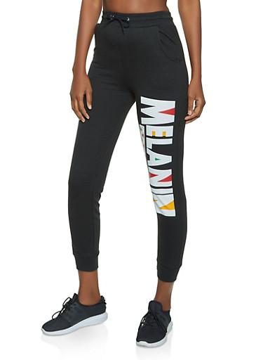 Melanin Graphic Joggers,BLACK,large