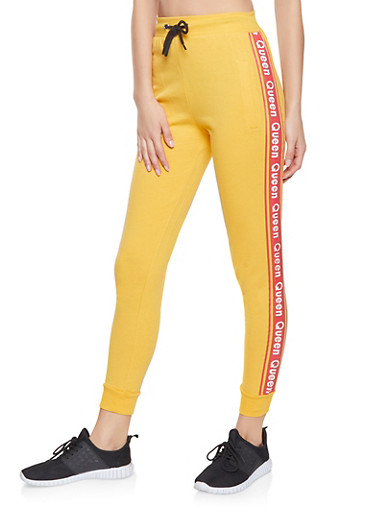 Queen Graphic Joggers,MUSTARD,large