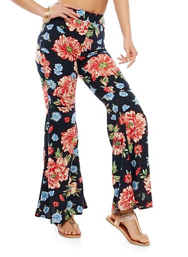Floral Bell Bottom Pants | Tuggl