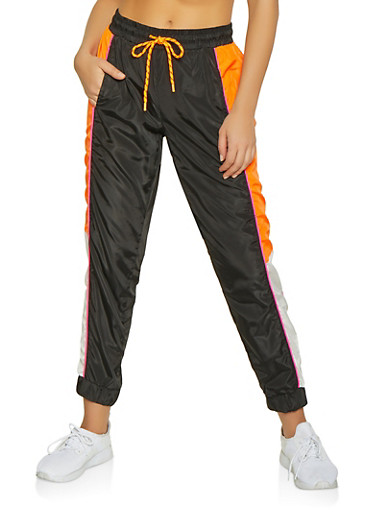 Color Block Windbreaker Joggers | 1061051064209,BLACK,large
