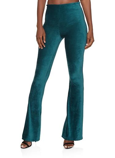 Corduroy Flared Pants,OLIVE,large