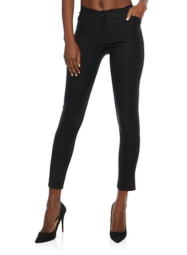 Black Skinny Dress Pants,BLACK,large