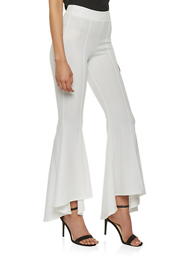 Pintuck Bell Bottom Pants - 1061074015873