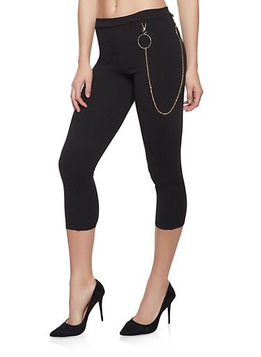 Cropped Crepe Knit Dress Pants,BLACK,large