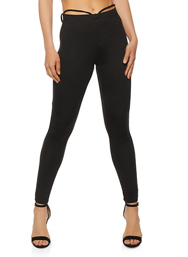 Ruched Front Pull On Pants,BLACK,large