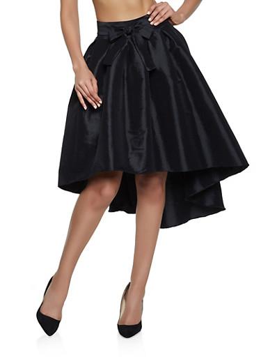 Taffeta High Low Skater Skirt,BLACK,large