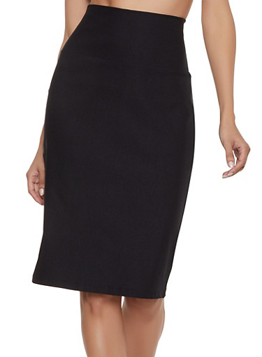 High Waisted Pencil Skirt | 1062062415157,BLACK,large