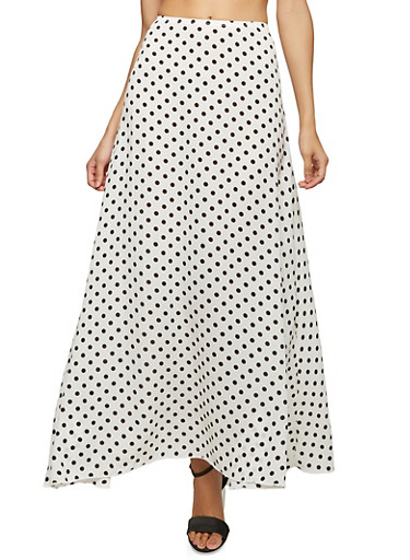 Polka Dot Maxi Skirt | Tuggl