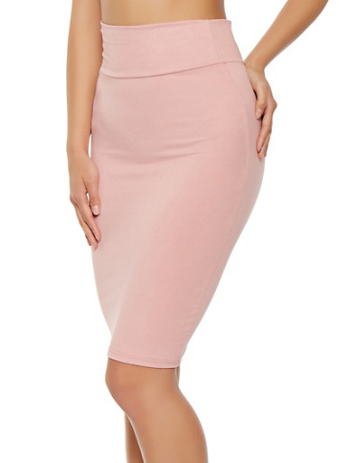 Soft Knit Midi Pencil Skirt | Tuggl