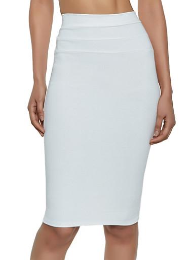 Midi Ponte Skirt,IVORY,large