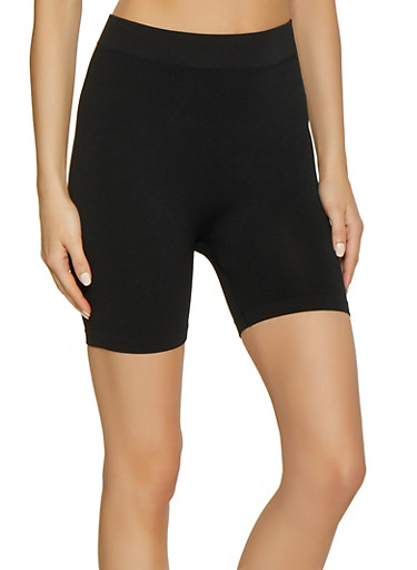 Seamless Bike Shorts,BLACK,large