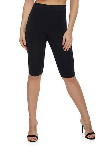 Seamless Bermuda Bike Shorts | 1068041452563,BLACK,large