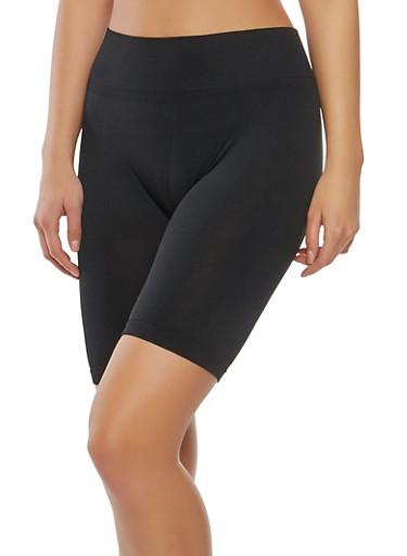 Seamless Bermuda Bike Shorts,BLACK,large