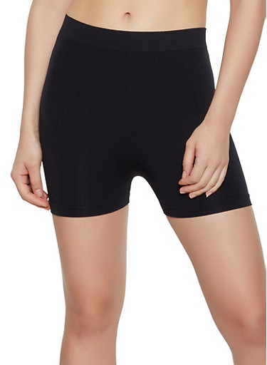 Solid Bike Shorts   1068075760003,BLACK,large